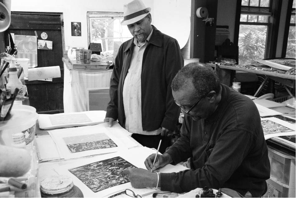 Professors Driskell and Holton signing print
