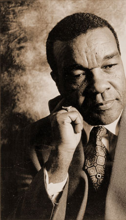 Portrait of David C. Driskell in sepia tones