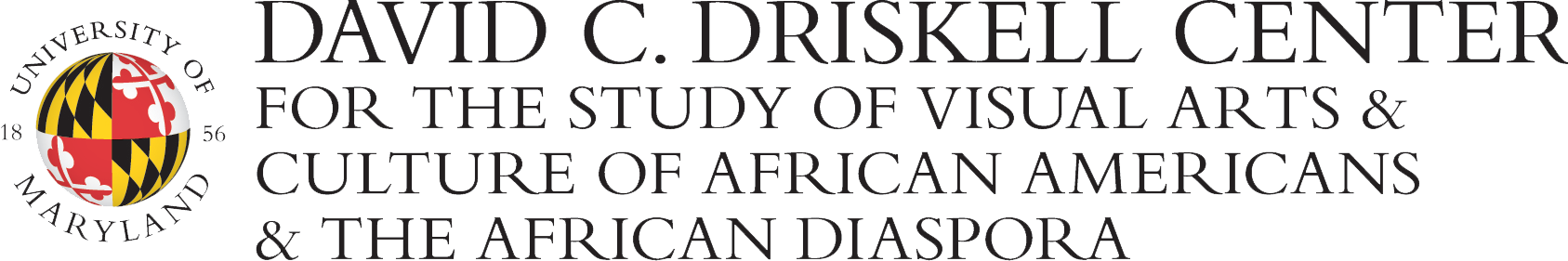 UMD David C. Driskell Center for the Visual Arts and Culture of African Americans and the African Diaspora Logo